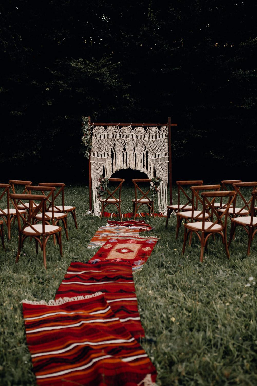 Scheunenhochzeit boho Möbel Vermietung